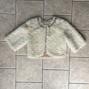 Fabulous Fur Faux Fur 3/4 Length Sleeve Jacket